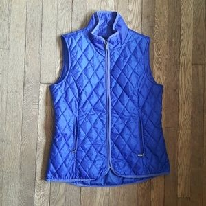Land's End quilted puffer vest bright blue